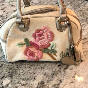 Juicy Couture Rose Embroidered Purse